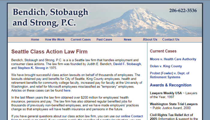 Bendich, Stobaugh and Strong, Attorneys at Law
